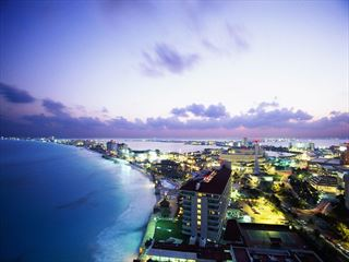 View of Cancun at night