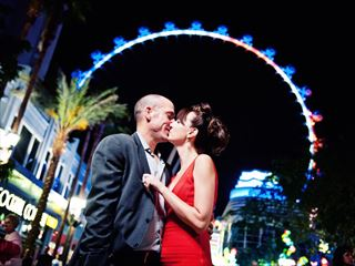 Bride & Groom at the High Roller, Las Vegas