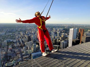 Hang from Toronto's CN Tower