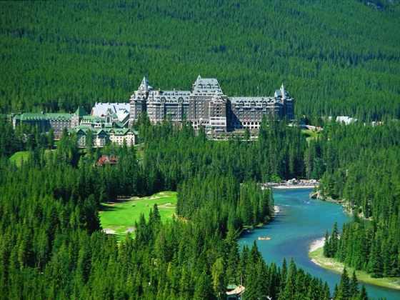 Exterior view of Fairmont Banff Springs