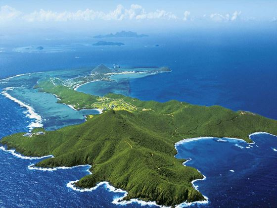 Aerial view of the island at Tamarind Beach Hotel & Yacht Club