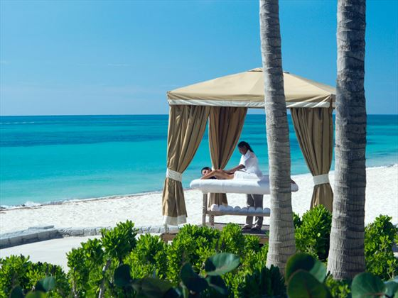 Beach massage treatment at Grand Lucayan