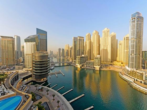 Dubai marina district
