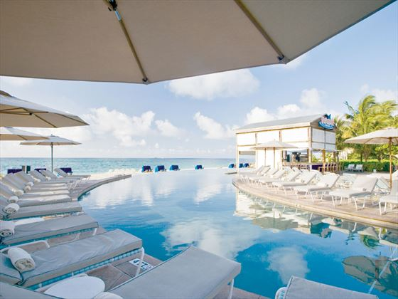 Grand Lucayan Serpentine pool with sun loungers