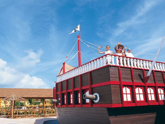 Kids Club pirate ship at Dreams Punta Cana