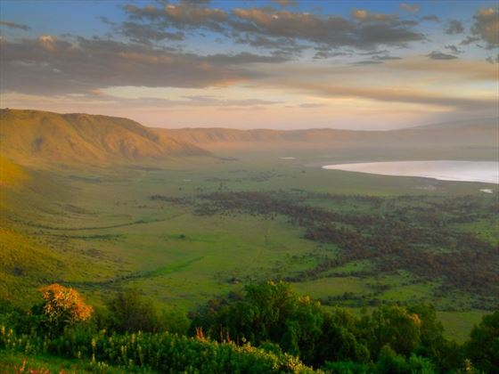 Landscape of Ngorongoro Crater
