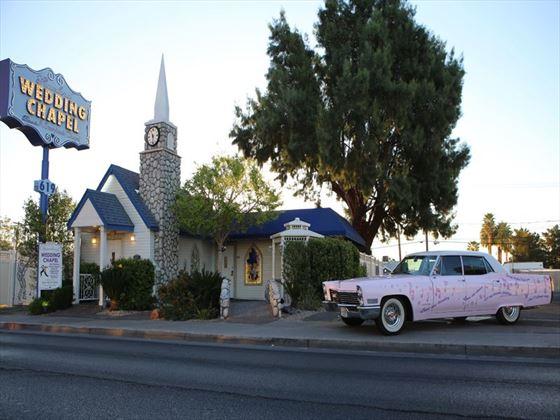 Vintage Pink Cadillac Wedding
