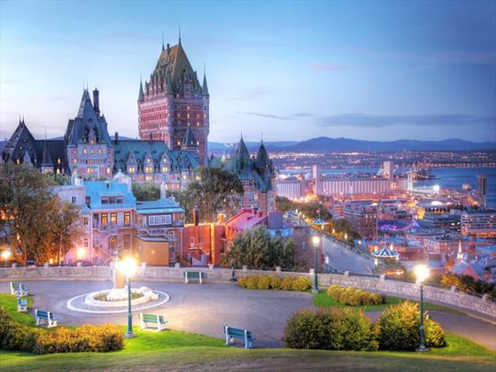 Quebec City at dusk