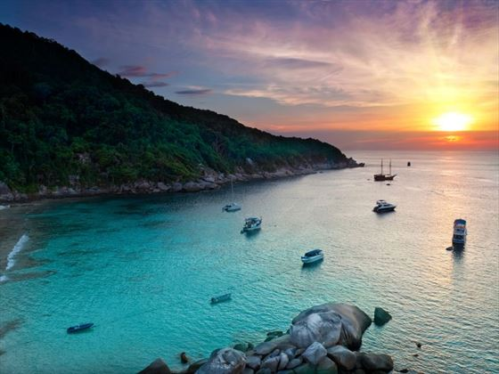 Sunrise over Similan Islands