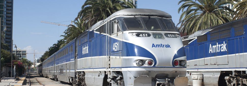 Amtrak train in California