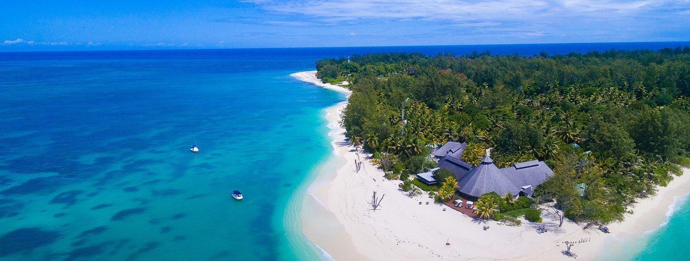 Denis Island aerial view