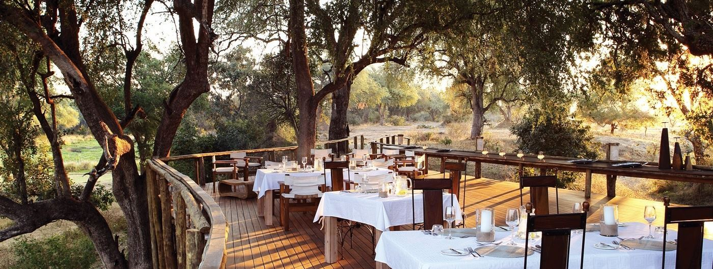 Anabezi Luxury Tented Camp dining deck