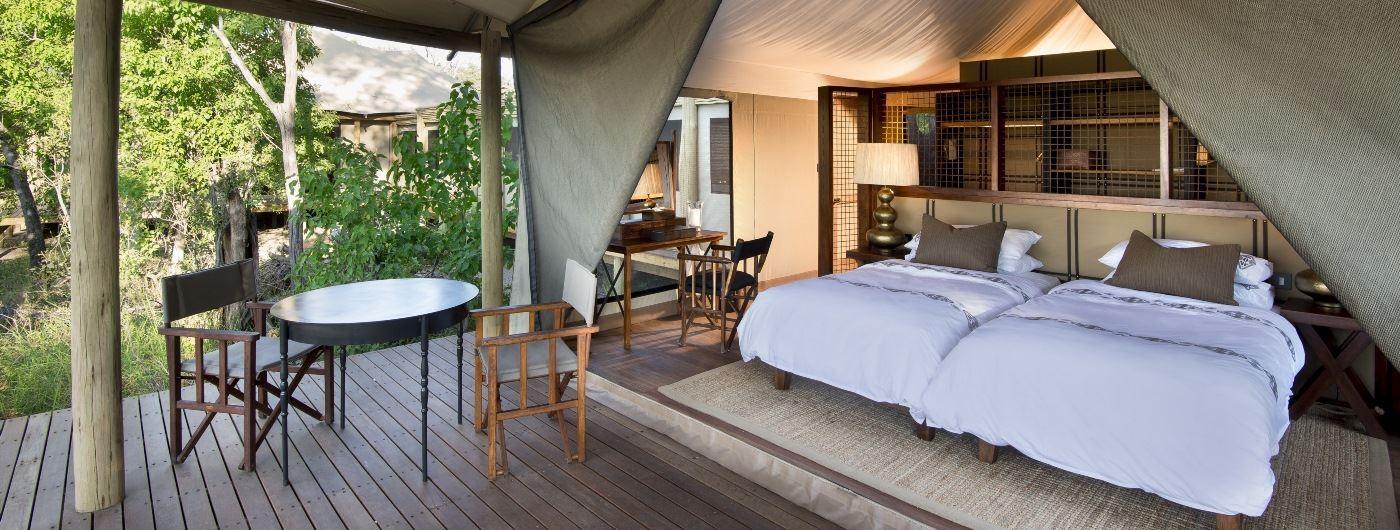 andBeyond Nxabega Okavango Tented Camp tent interior