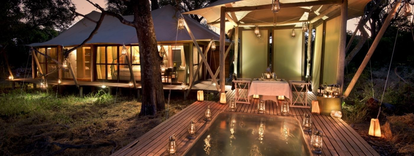 andBeyond Xaranna Okavango Delta Camp tent exterior