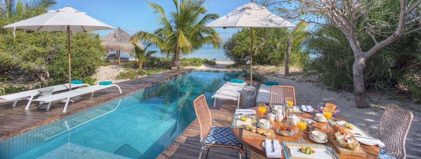Azura Benguerra Island Villa Amizade pool