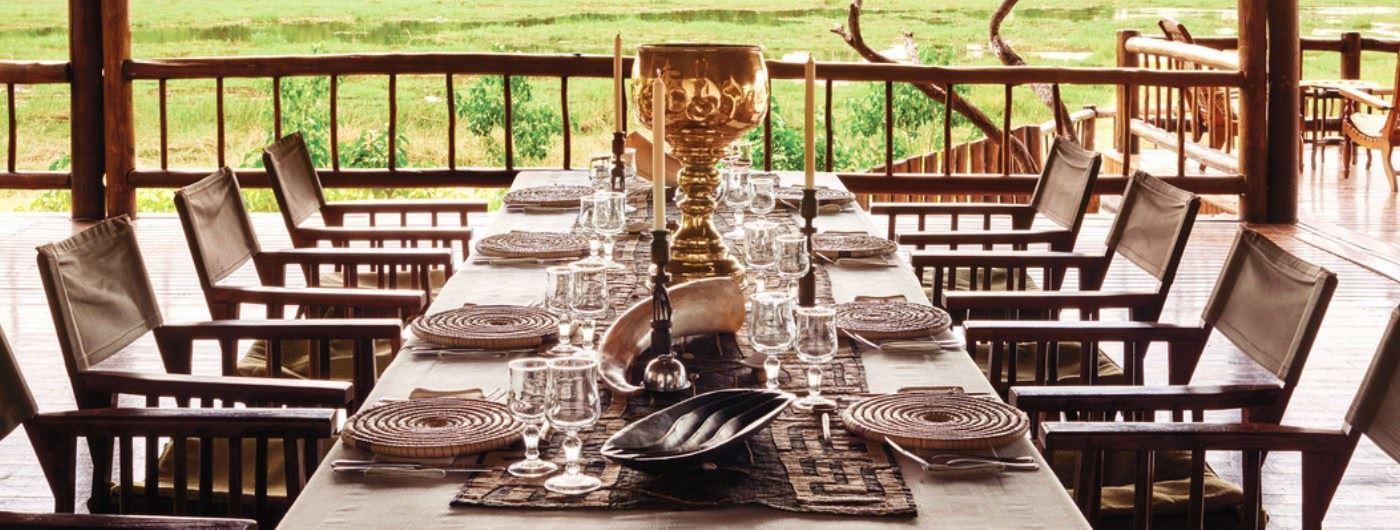 Belmond Khwai River Lodge dining