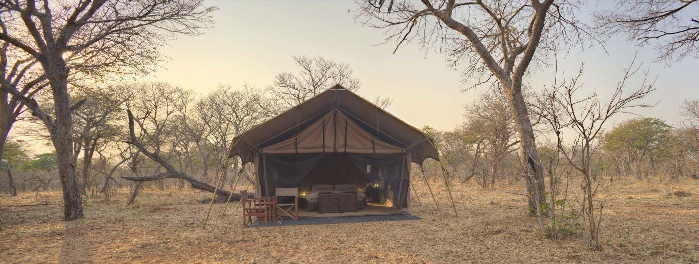 andBeyond Chobe Under Canvas tent exterior
