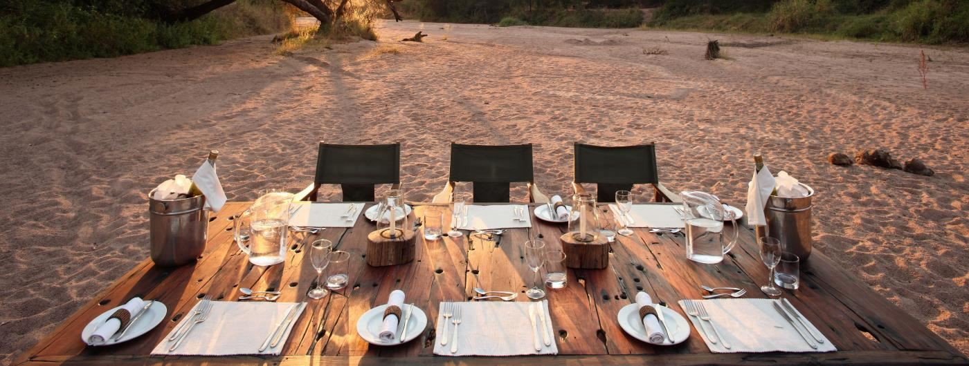 Jongomero Safari Camp bush dining