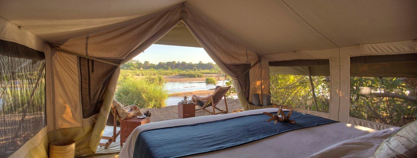 Kichaka Safari Camp tent interior