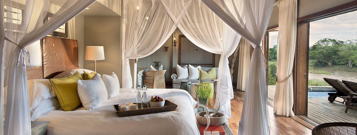 Lion Sands Narina Lodge suite interior