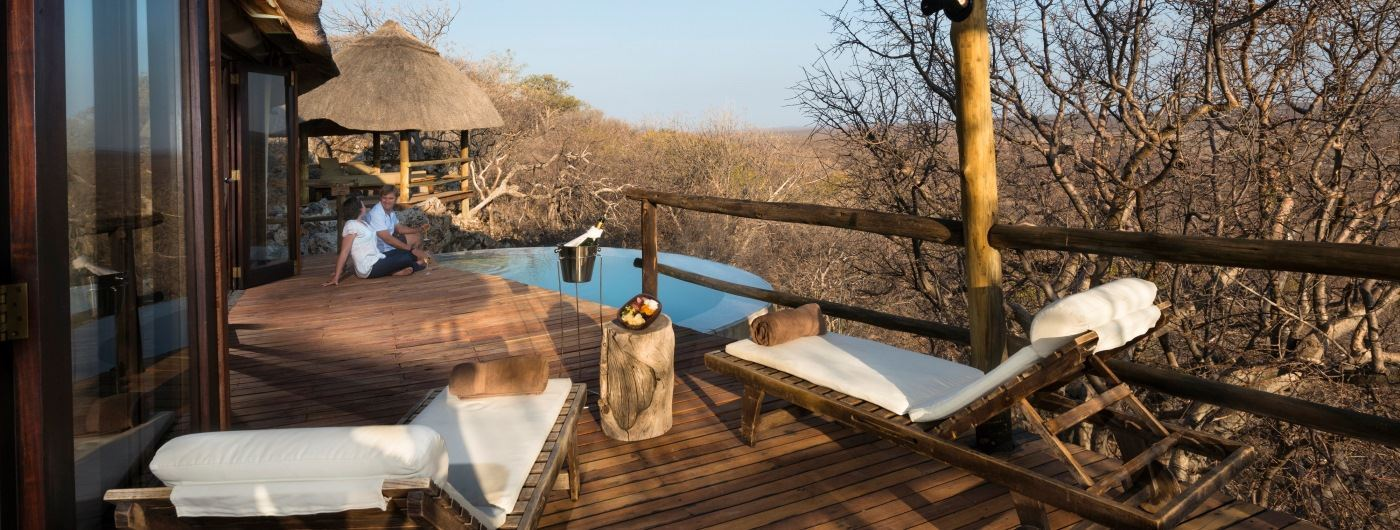 Little Ongava private veranda and pool