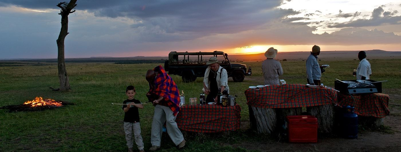 Mara Intrepids Camp sundowners