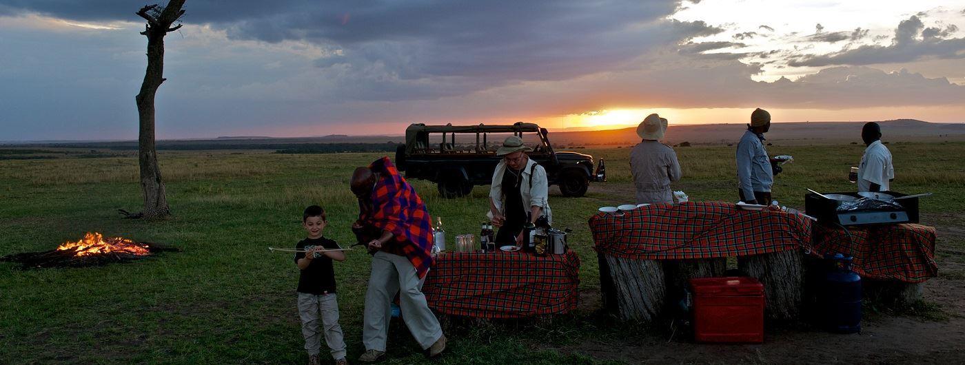 Mara Intrepids Camp sundowners