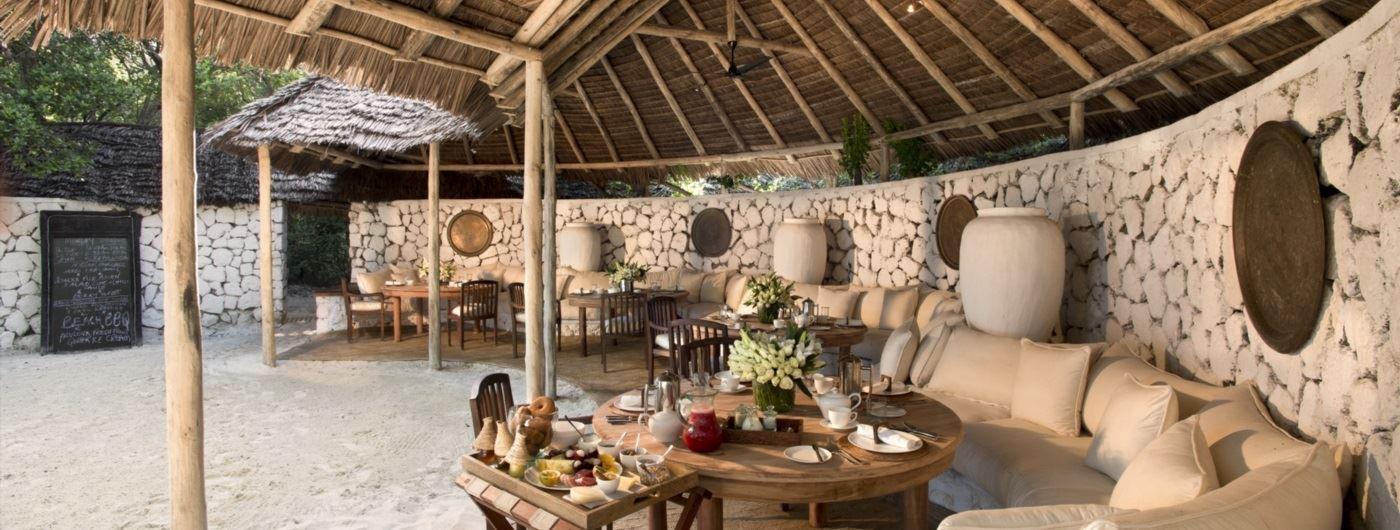 andBeyond Mnemba Island - main lounge
