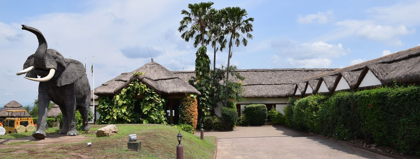 Mweya Safari Lodge entrance