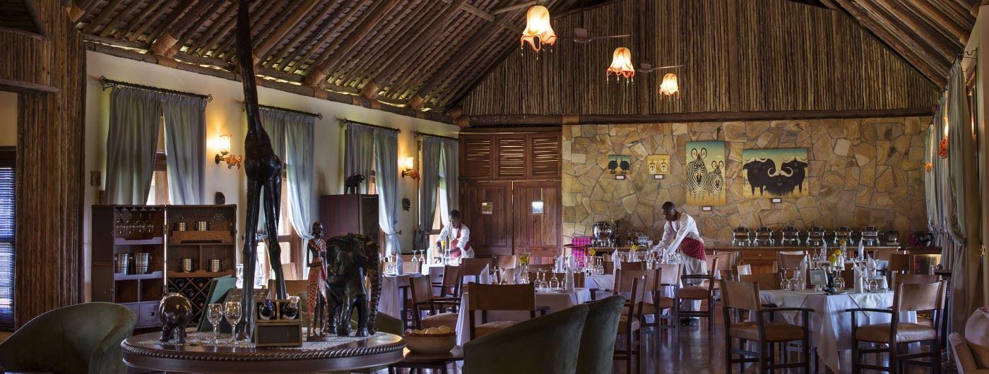 Neptune Ngorongoro Luxury Lodge dining room