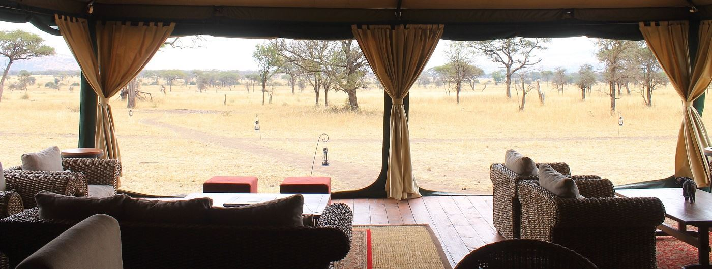 Lounge tent at Nimali Central Serengeti