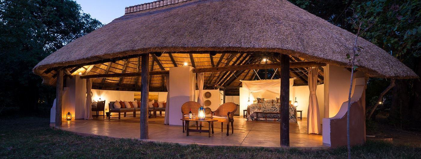 Nkwali Camp chalet exterior