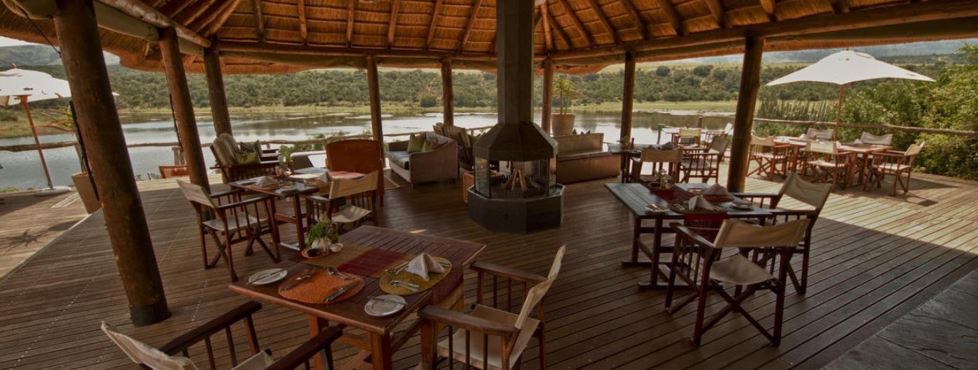 Pumba Water Lodge public area