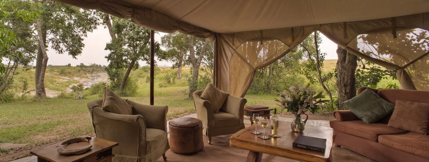 Rekero Camp lounge tent