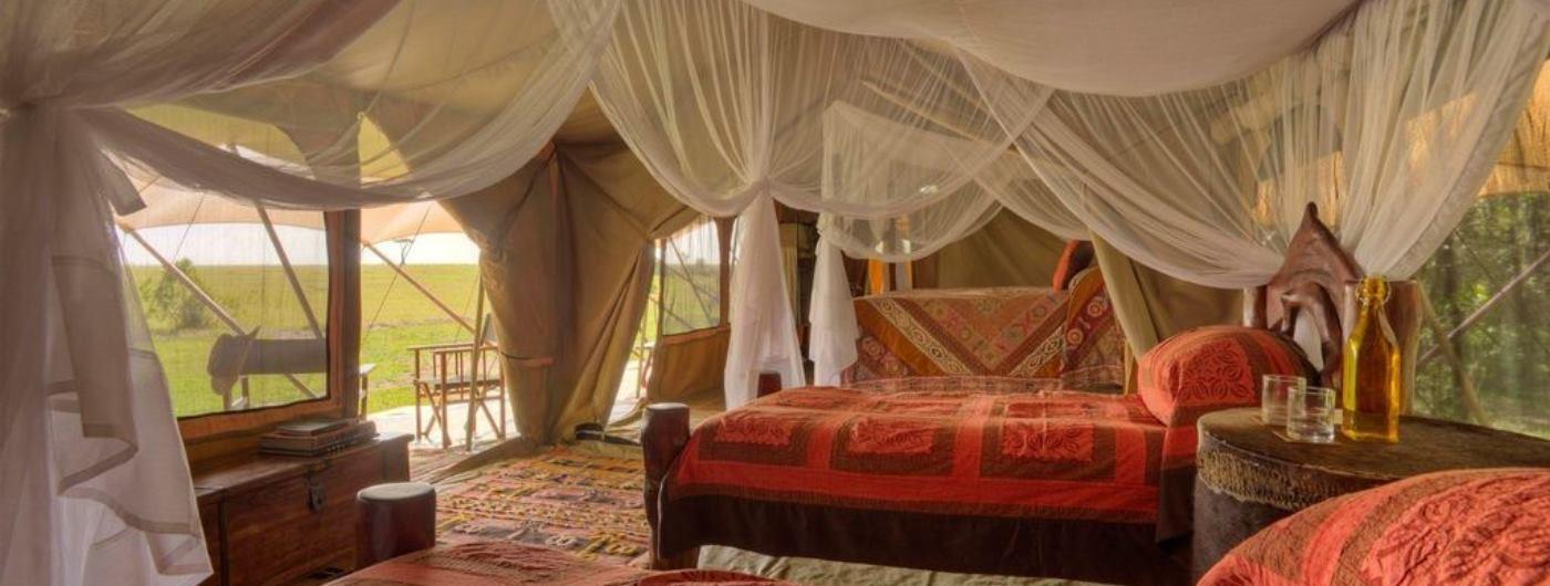 Saruni Wild family tent interior