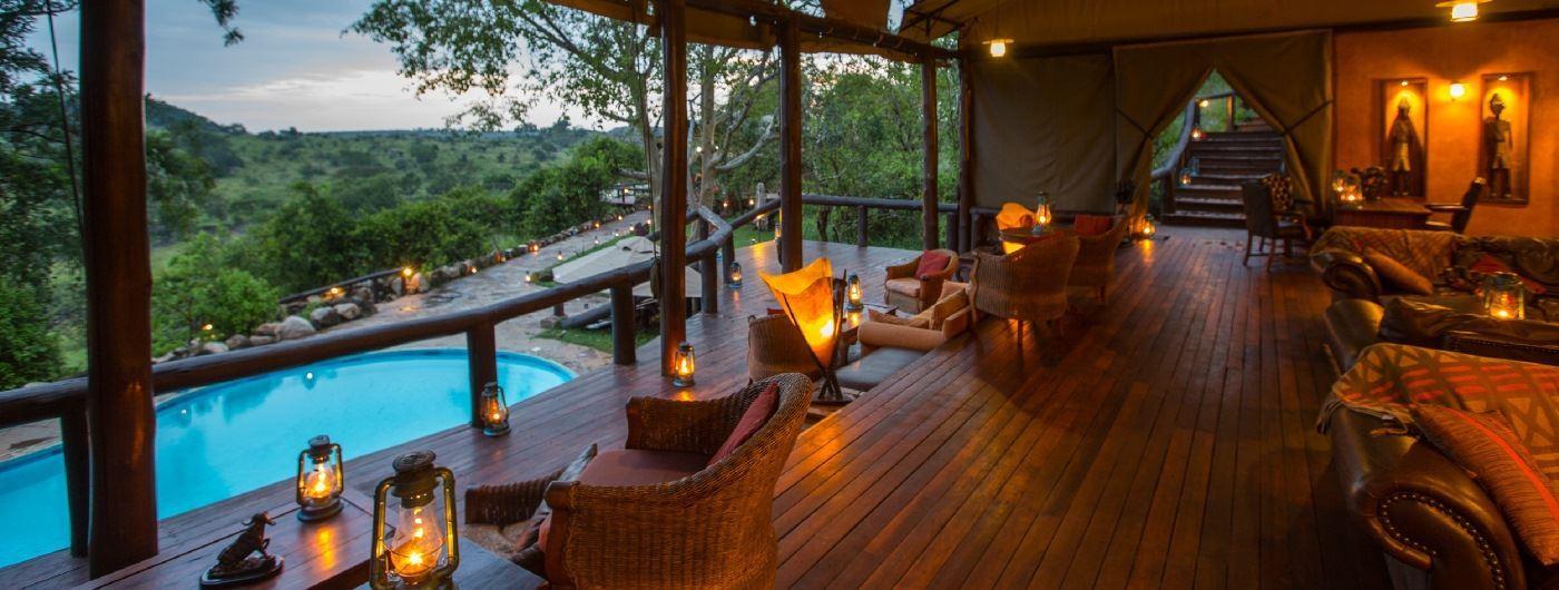 Serengeti Migration Camp main lounge