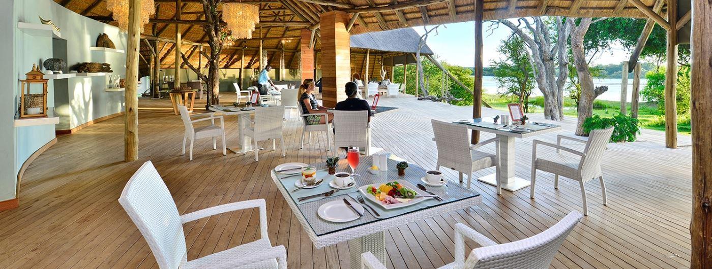 Victoria Falls River Lodge dining area