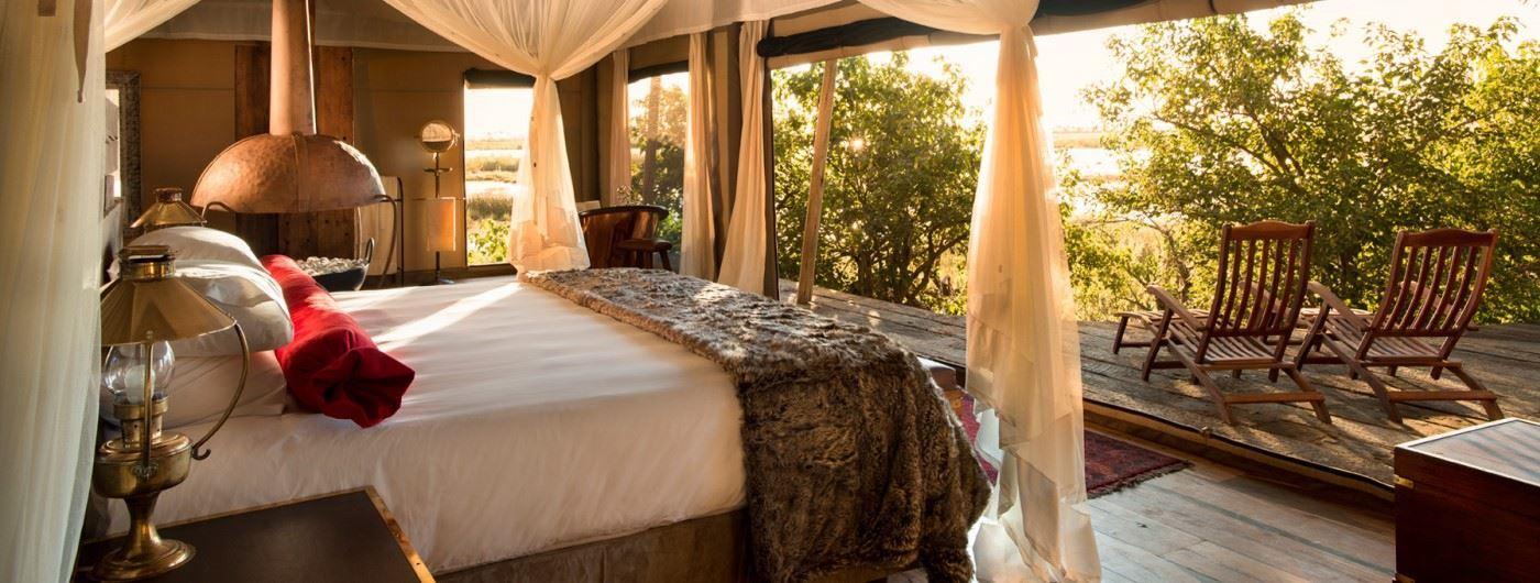 Zarafa Dhow Suites suite interior and veranda