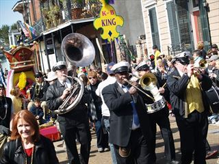 French Quarter festival, Mardi Gras Band, New Orleans