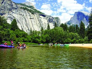 Rafting in Yosemite