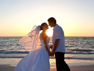 Beautiful sunset weddings at the Sea Breeze Beach House, Barbados