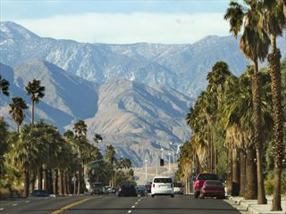Driving in Palm Springs
