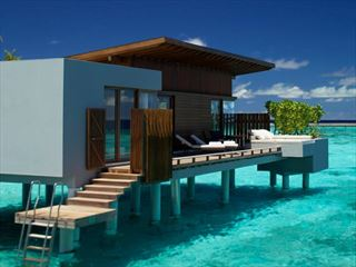 Exterior view of a Park Water Villa at Park Hyatt Hadahaa Resort