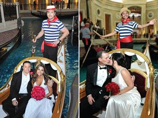 Gondola Wedding, The Venetian Resort