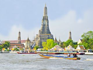 Boats on the Choa Phraya River, Bangkok