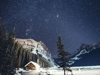 Milky Way over Lake Louise