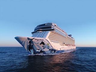 NCL Bliss at sea
