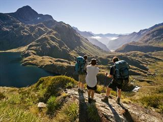 Walking Routeburn Track, Fiordland National Park