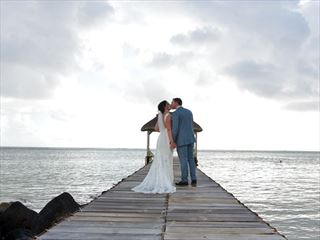 Wedding couple at Tamassa - An All Inclusive Resort