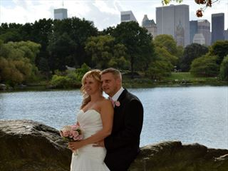 Wedding couple in Central Park